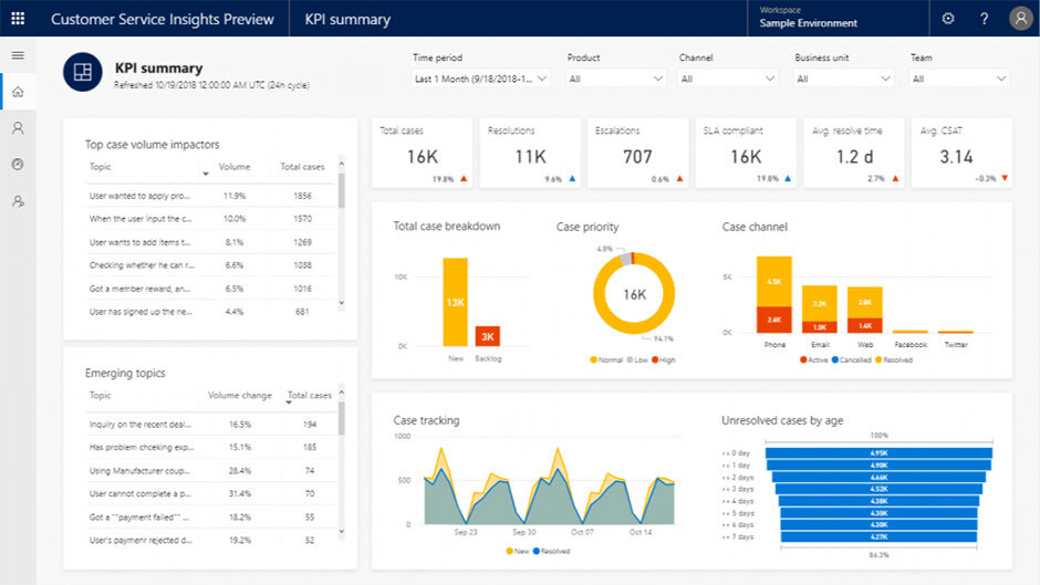 Insights: Microsoft 365 Dynamics Customer Service